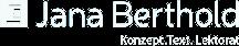 Das Logo von Jana Berthold in Schwarz-Weiss