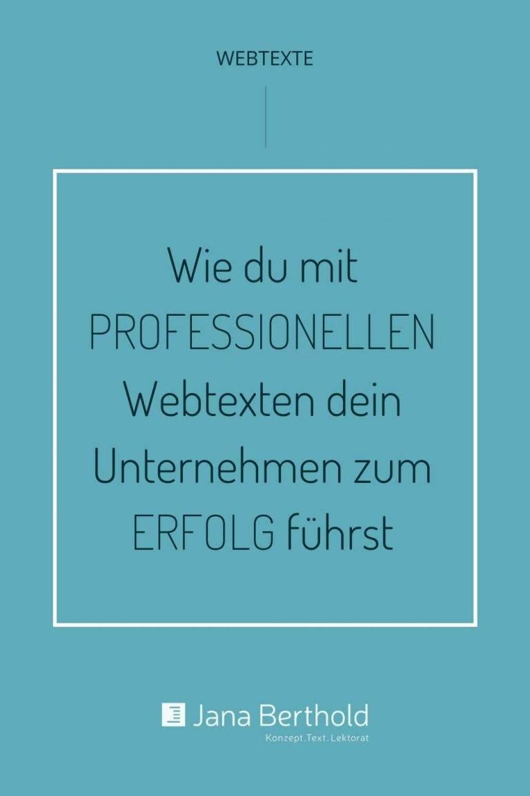 Professionelle Webtexte fuer deinen Unternehmenserfolg