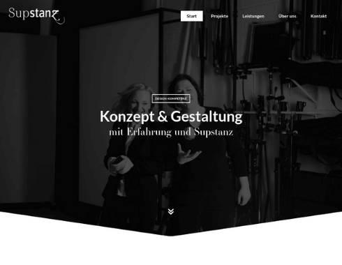 Startseite Referenzprojekt Designagentur Supstanz
