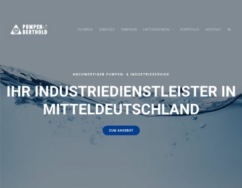 Website Referenzprojekt Pumpen-Berthold