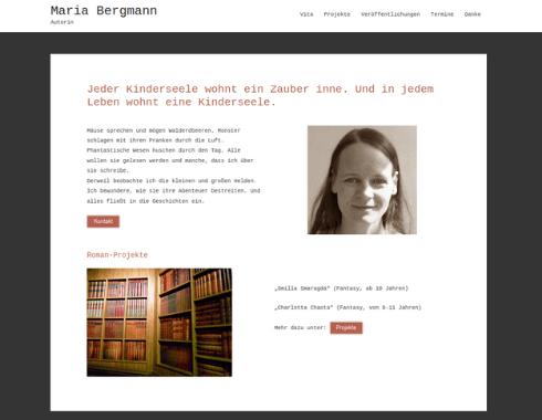 Webseite der Leipziger Autorin Maria Bergmann