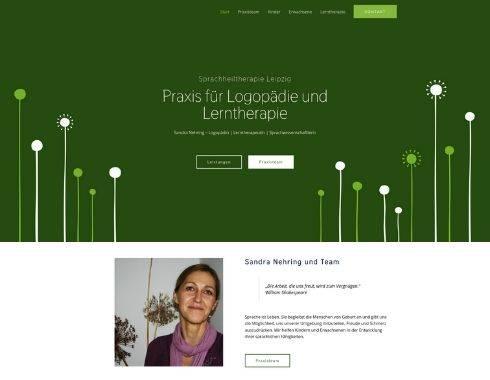 Startseite Referenzprojekt Logopaedie Nehring in Leipzig