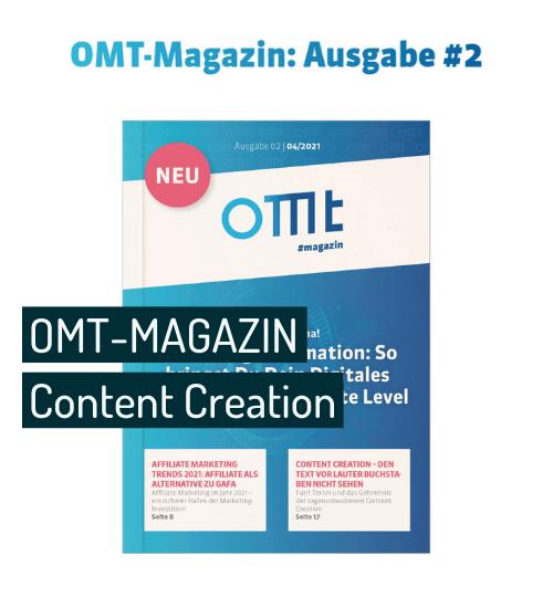 Vorschaubild zu Blogartikel Content Creation fuer OMT